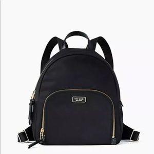 NWT Kate Spade Medium Dawn Black Nylon Backpack